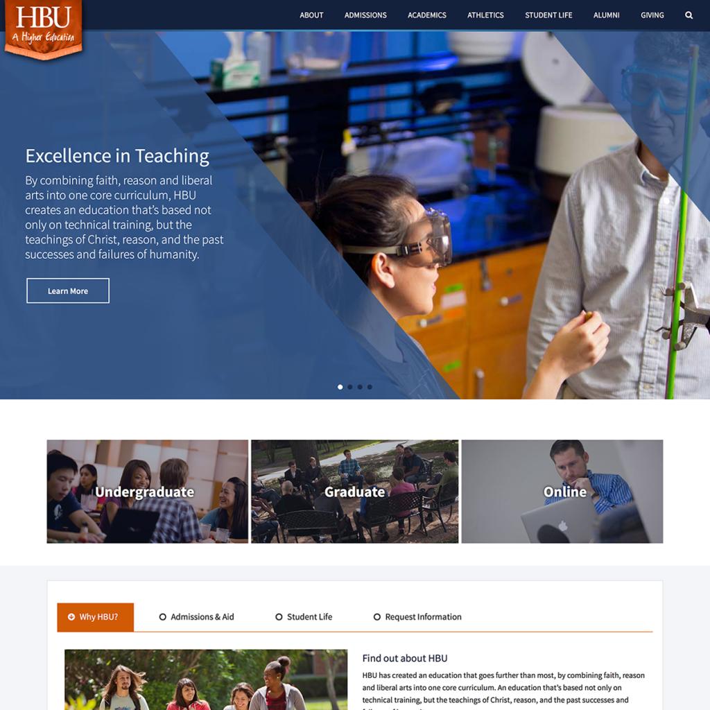 HBU Home page